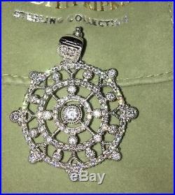 Stunning Judith Ripka Sterling Silver Pendant With Cubic Zirconia Mib