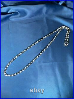 Stylish Design 925 Sterling Silver Mens Chain Iced Out With Cubic Zirconia