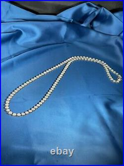 Stylish Round Design 925 Sterling Silver Mens Chain Iced Out With Cubic Zirconia