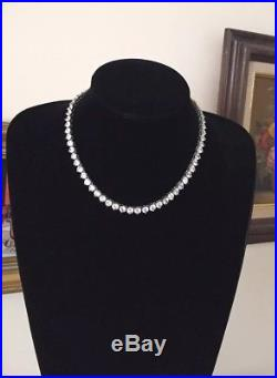 Super 925 Sterling Silver Cubic Zirconia Eternity Tennis Chain Necklace