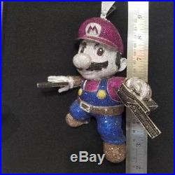 Super Mario Customized 925 Sterling Silver Cubic Zirconia Pendant Free Shipping