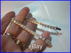 Superb Incredible Sparkly Large Cubics Bracelet-amazing Quality 8-triple Graded