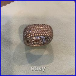 Suzy Levian 925 Sterling Silver With Cubic Zirconia Square Band Ring Size 7