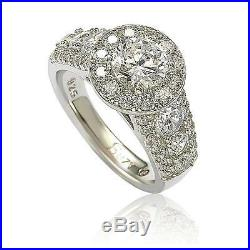 Suzy Levian Bridal Sterling Silver White Cubic Zirconia Engagement Ring