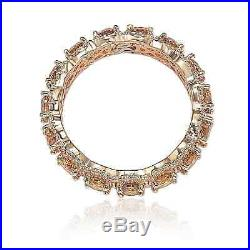 Suzy Levian Rose Sterling Silver Round Cubic Zirconia Champagne and White Eterni