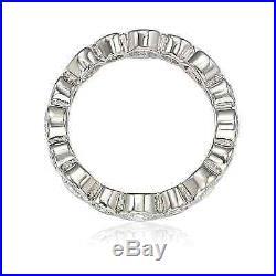 Suzy Levian Sterling Silver Cubic Zirconia Multi Circle Bezel Set Eternity Band