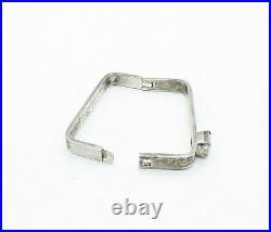 TAXCO MEXICO 925 Silver Vintage Cubic Zirconia Square Bangle Bracelet B7826