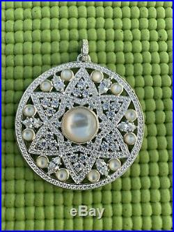 THOMAS SABO Mother Of Pearl Cubic Zirconia Adorned Circle Pendant Large New