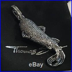 THOMAS SABO Rebel Icon Sterling Silver Koi Pendant withCubic Zirconia