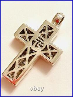 THOMAS SABO Sterling Silver & White Cubic Zirconia Cross Pendant. Unisex