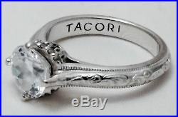 Tacori Sterling Silver & Cubic Zirconia Ring / size 7 / RETAIL is $850