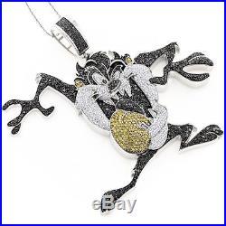 Taz The Tasmanian Devil Customized 925 Sterling Silver Cubic Zirconia Pendant