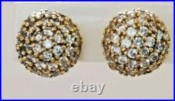 Thomas Sabo Pave Cubic Zirconia Earrings Yellow Gold on Silver BNIB rrp £135