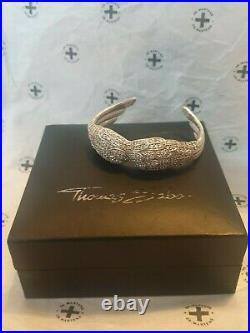Thomas Sabo Rare Angel Wing Bangle. Cubic Zirconia. Sterling Silver