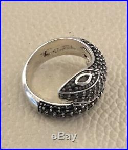 Thomas Sabo Rebel At Heart Silver Cubic Zirconia Snake Ring Size L