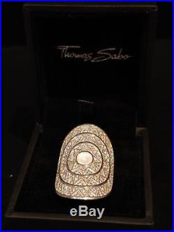 Thomas Sabo Sterling Silver Milky Quartz/Cubic Zirconia Ring Size N