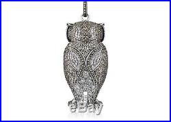 Thomas Sabo large Owl Pendant Sterling Silver With Marcasite and Cubic zirconia