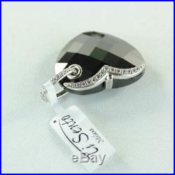 Ti Sento Milano Black/White Cubic Zirconia Heart 925 Sterling Silver Pendant (n)