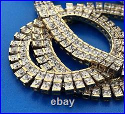 Vermeil Sterling Silver 925 Cubic Zirconia CZ Statement Collar Choker Necklace