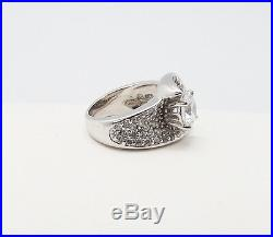Victoria Weick Sterling Silver 925 Clear Cubic Zirconia Statement Ring 6 New