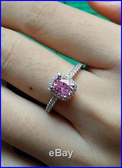 Victoria Wieck Design 3ct Pink AAA Cubic Zirconia 925 Sterling Silver Ring Fine