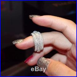 Victoria Wieck Design Full Pave AAA Cubic Zirconia 925 Sterling Silver Ring Fine