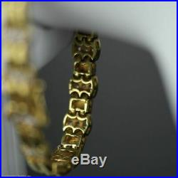 Vintage 18k gold plated sterling silver bracelet chain tennis Cubic Zirconia