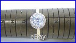 Vintage 9 Ct Gold Ring With Cubic Zirconia Setting