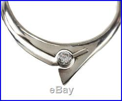 Vintage Alicia Taxco Sterling Silver Choker CZ Cubic Zirconia Modernist