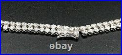 Vintage Sterling Silver & Cubic Zirconia Necklace 27.75g Hallmarked 43cm