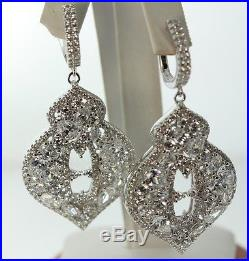 Wedding/bridal Chandelier Drop Earrings Encrusted Cubic Zirconia