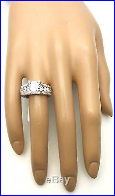 Women Genuine 925 Sterling Silver Solitaire Accent Cubic Engagement Promise Ring