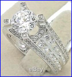 Women's Genuine 925 Sterling Silver Solitaire Cubic Bridal Wedding Promise Ring