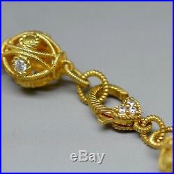 Women's JUDITH RIPKA Sterling Silver Cubic Zirconia Truffle Bead Bracelet