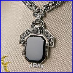 Women's Vintage Sterling Silver. 925 Necklace With Colored Cubic Zirconia Pendant