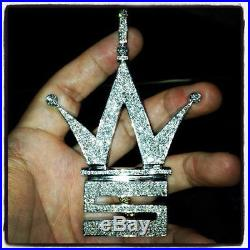 World Star Hiphop 925 Sterling Silver Cubic Zirconia Pendent Free Shipping
